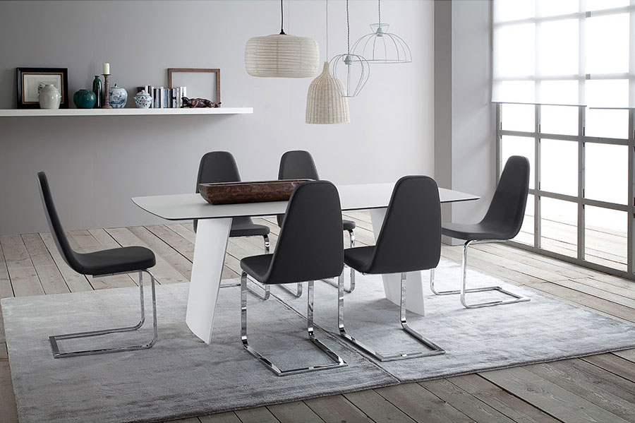 Berna Modern Dining Chair + Shannah Contemporary Dining Table