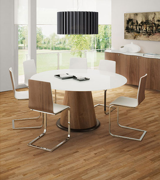 Palmero Modern Dining Table + Jasmine Contemporary Side Chair