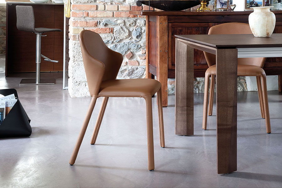Orion Leather Modern Dining Chair