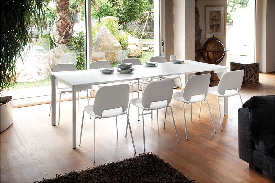 Marcia Modern Console + Dining Table and Trajan Modern Dining Chair