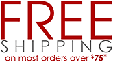 Free Shipping on Most Orders Over $75