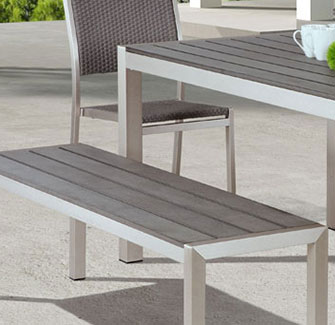 Melun Modern Outdoor Dining Bench