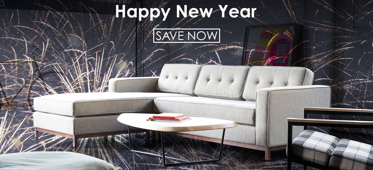 Happy New Year from Eurway.com! Save now on modern furniture + accessories.
