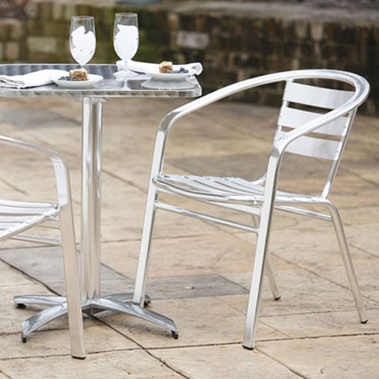 Modern Outdoor Dining Chairs + Benches