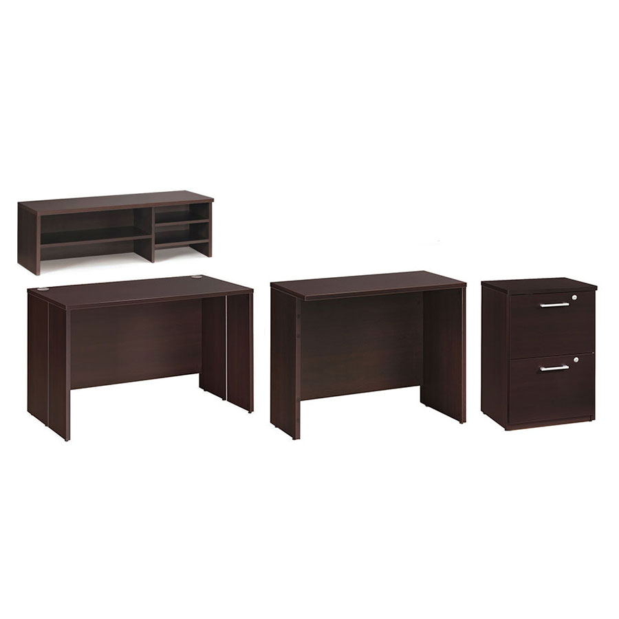 600 Plus Modern Coffee-Colored Desk Set