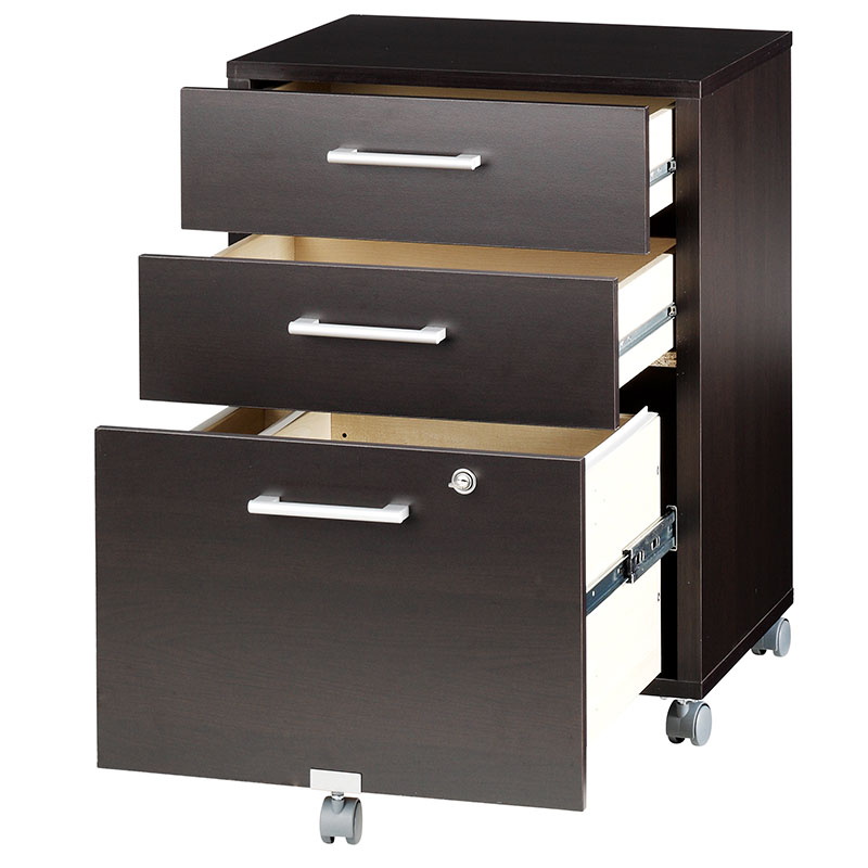 600 Plus Modern 3-Drawer Mobile File Cabinet