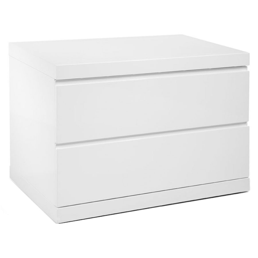 Aarhus Modern White Large Nightstand  Eurway Furniture