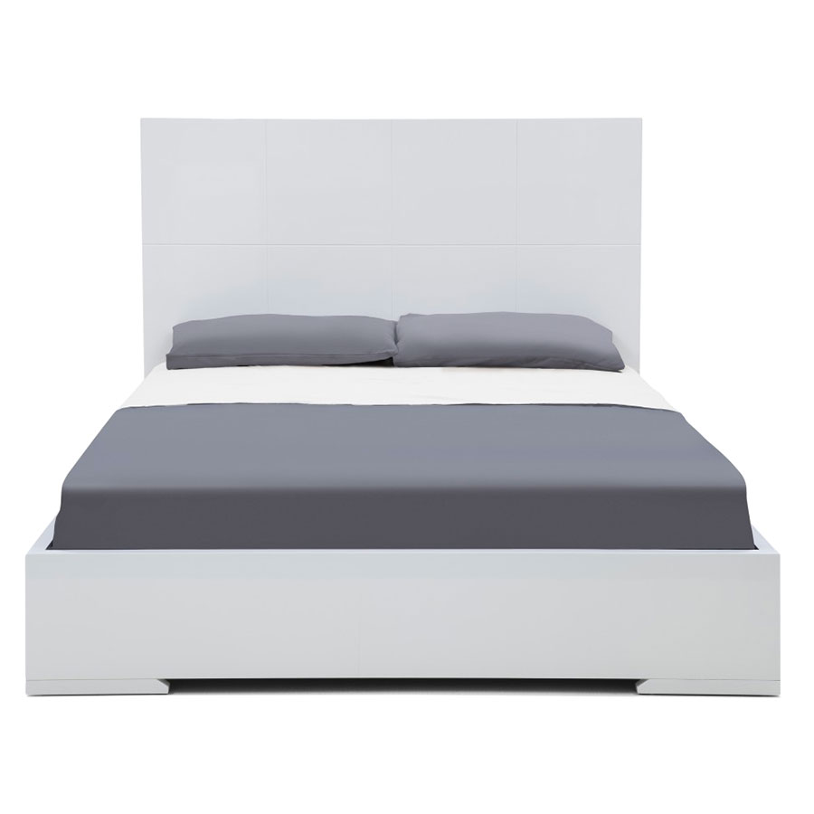 Aarhus Contemporary White Platform Bed