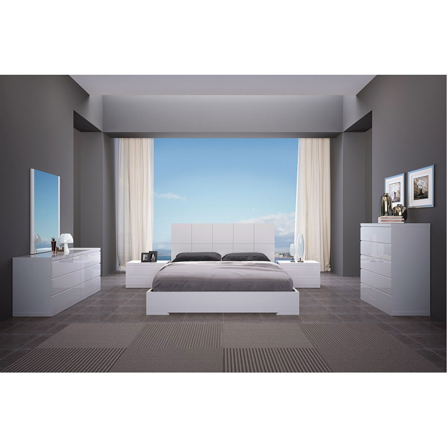 Aarhus Contemporary White Bedroom Collection