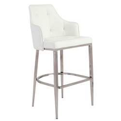 Aaron White Modern Bar Stool
