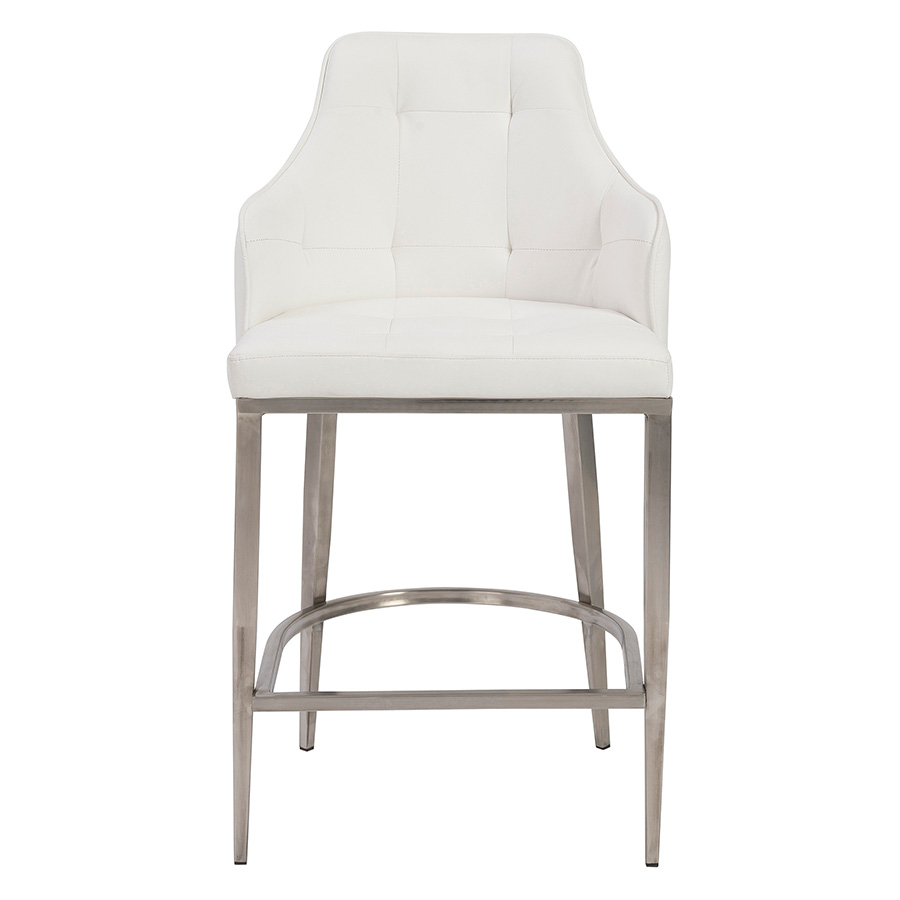 Aaron White Contemporary Counter Stool