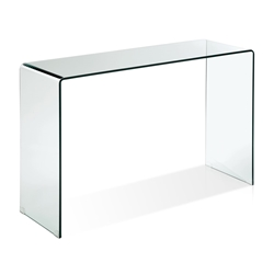 Abbott Solid Glass Modern Console Table