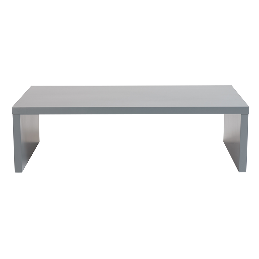 Abby Matte Gray Contemporary Coffee Table