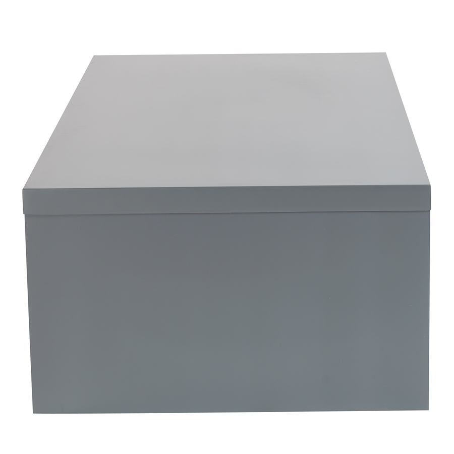 Abby Matte Gray Modern Cocktail Table