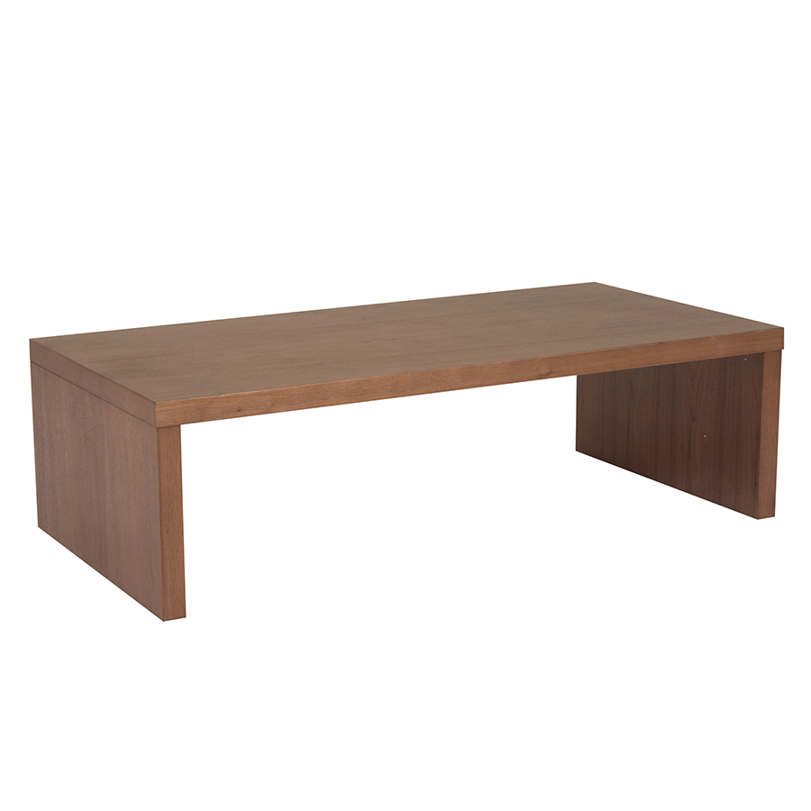 Abby Walnut Modern Coffee Table