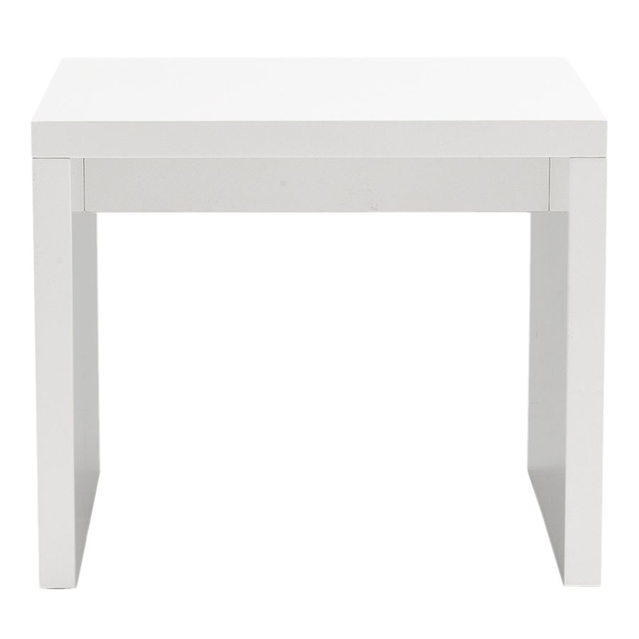 Abby High Gloss White Lacquer Side Table