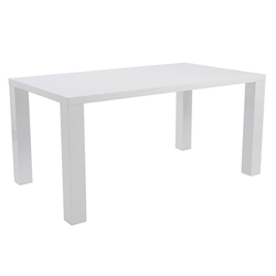 Abel Modern Dining Table in White