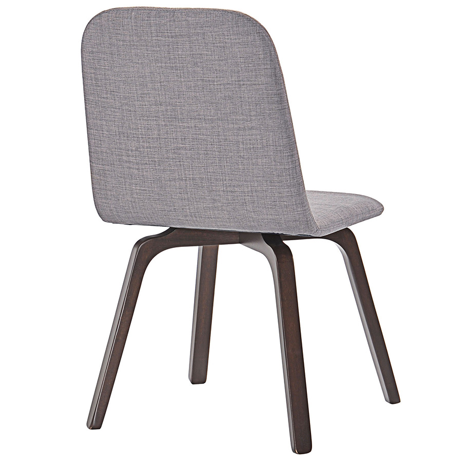 Acclaim Contemporary Gray Dining Chair - Back View