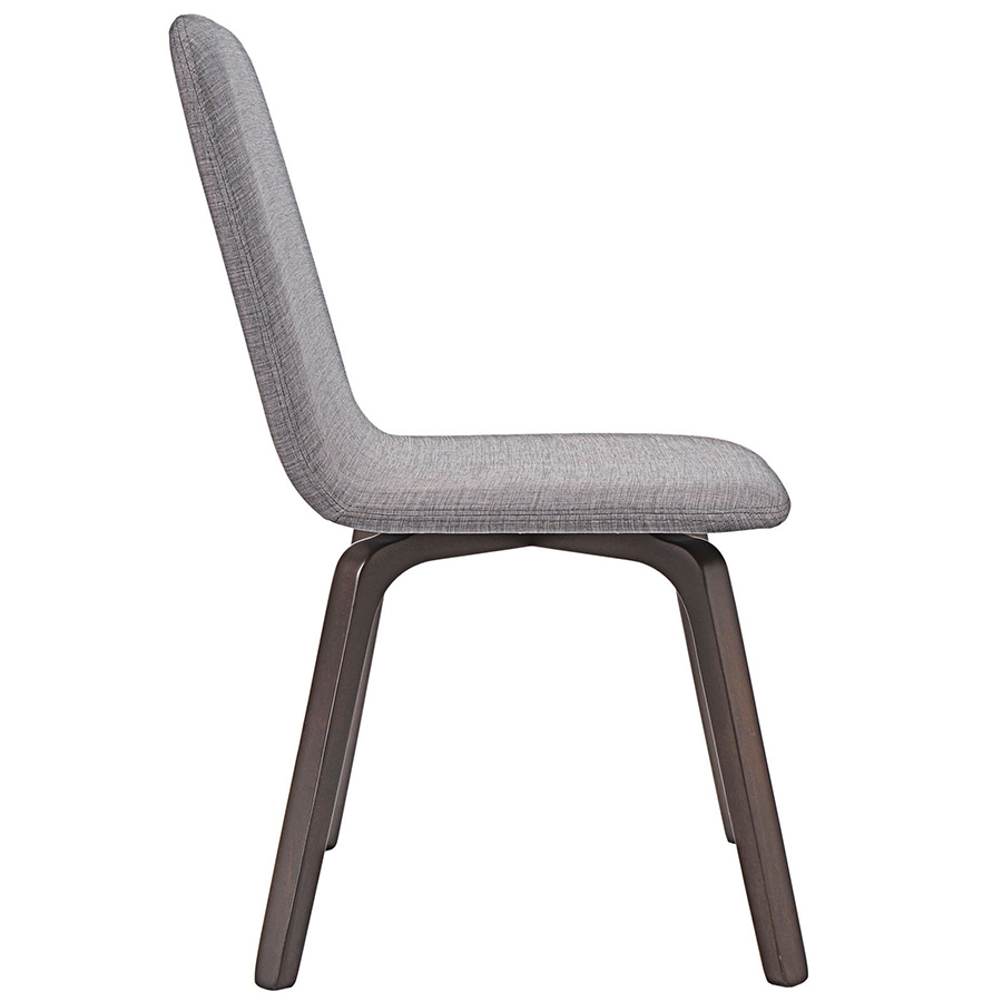 Acclaim Contemporary Gray Dining Chair - Side View