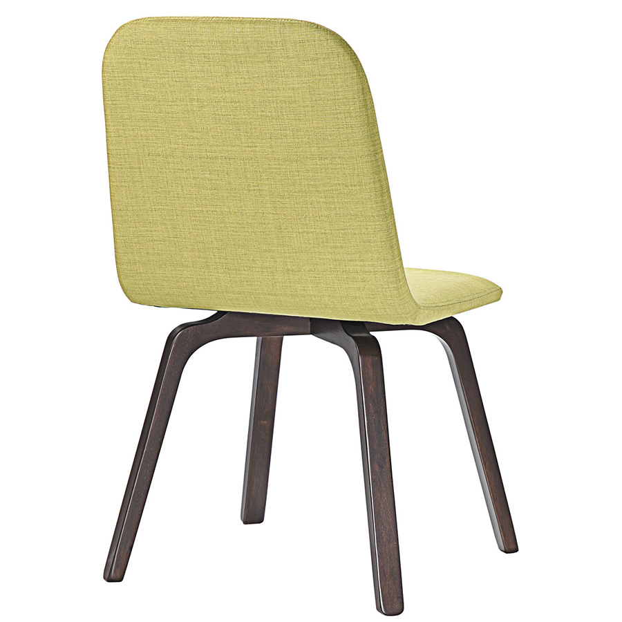 Acclaim Contemporary Green Dining Chair - Back View