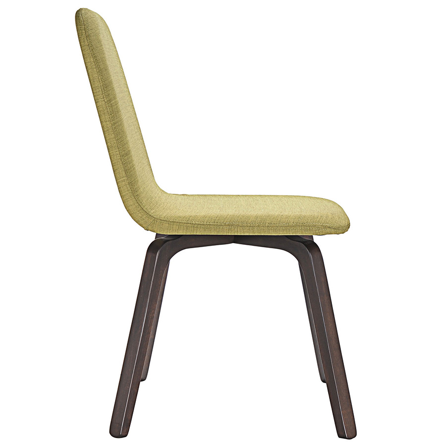 Acclaim Contemporary Green Dining Chair - Side View
