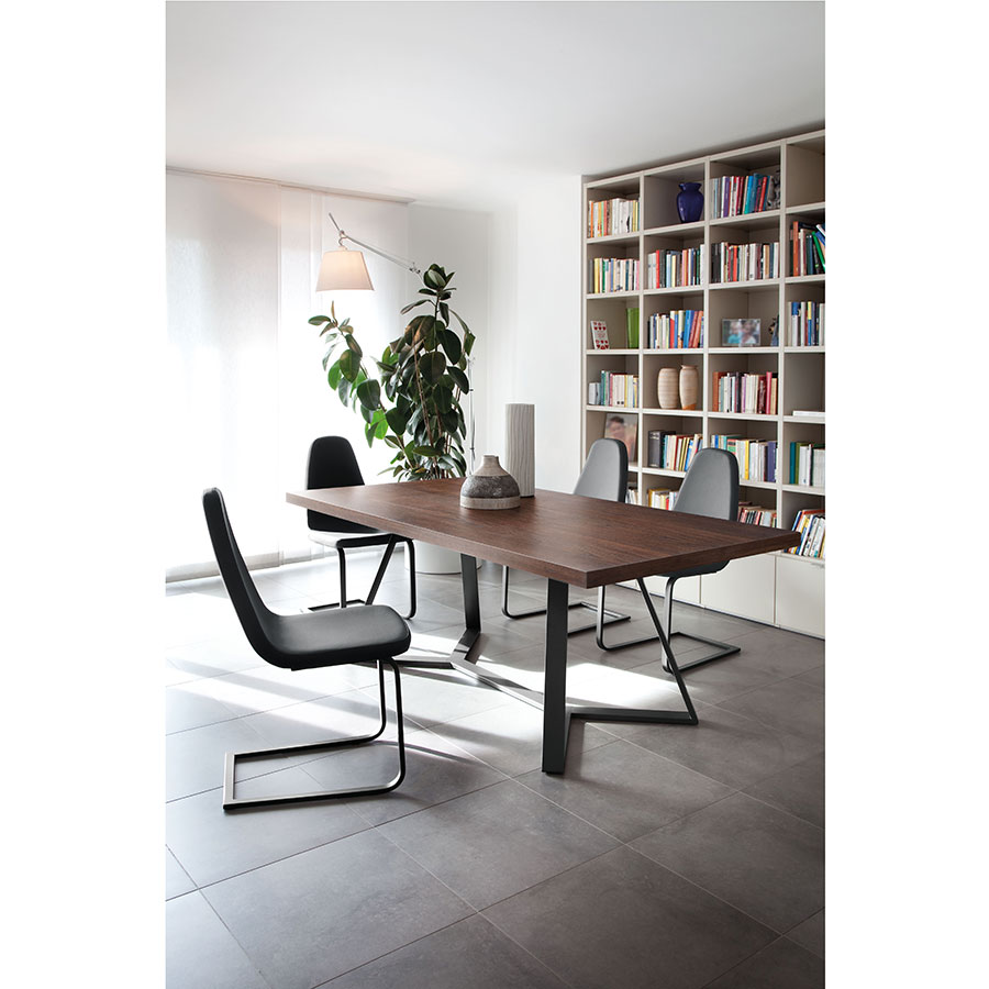 Adena Long Chocolate Contemporary Dining Table