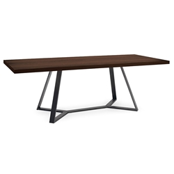 Adena Long Chocolate Modern Dining Table