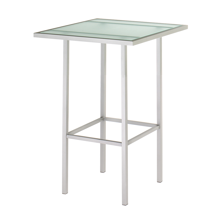 Adino Glass + Metal Modern Counter Table