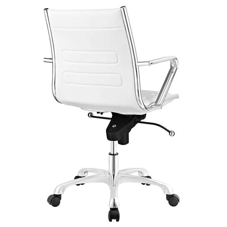 Advance Modern White Office Chair - Back View