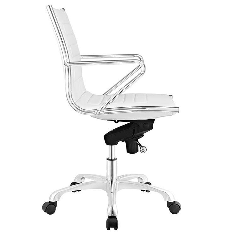 Advance Modern White Office Chair - Side View