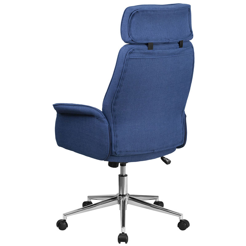 Affiliate Modern High Back Blue Office Chair - Back View