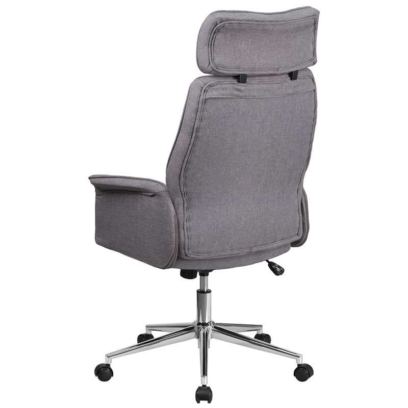 Affiliate Modern High Back Gray Office Chair - Back View