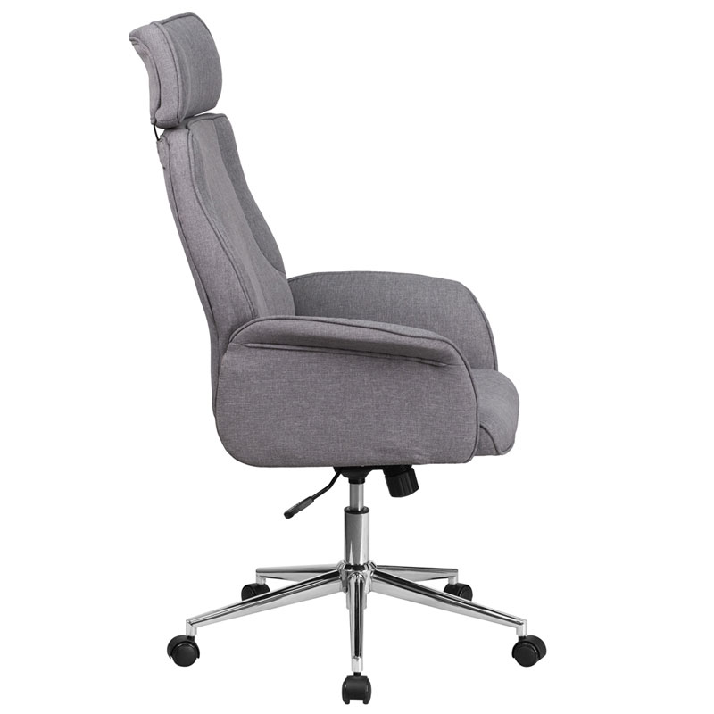 Affiliate Modern High Back Gray Office Chair  - Side View