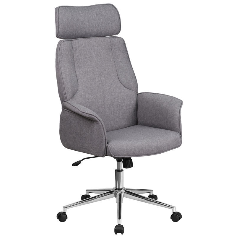 Affiliate Modern High Back Gray Executive Office Chair