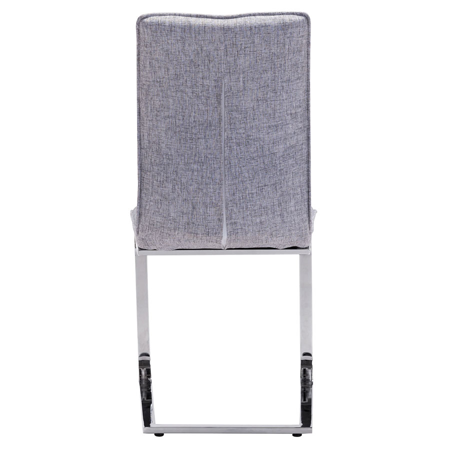 Agda Gray Fabric Contemporary Dining Chair