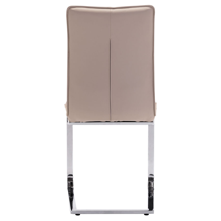Agda Taupe Leatherette Contemporary Dining Chair