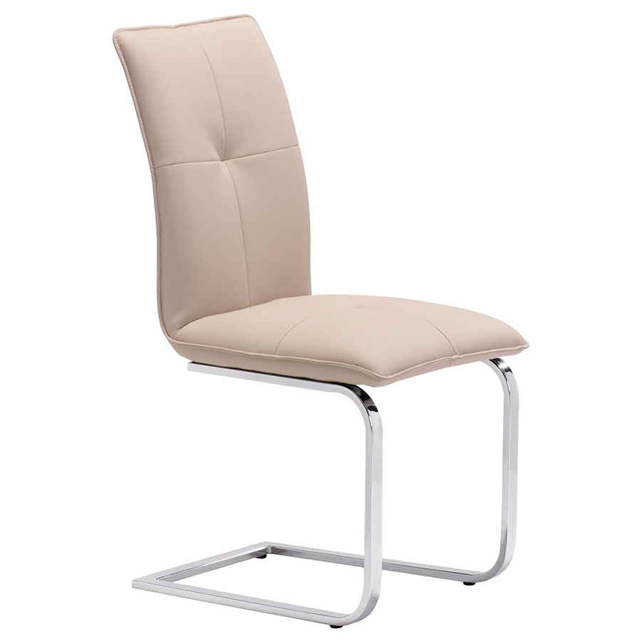 Agda Taupe Modern Dining Chair