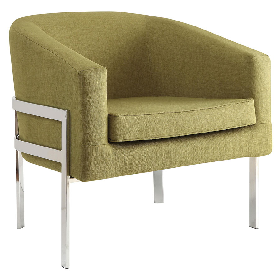 Agnes Green Modern Lounge Chair