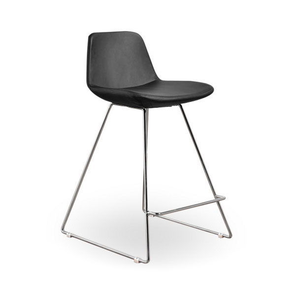 Agoura Gray Leatherette Modern Classic Counter Stool