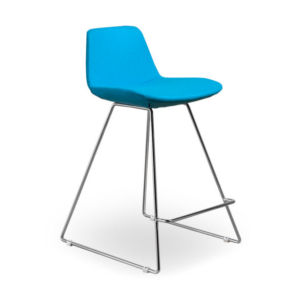 Agoura TurquoiseWool Modern Classic Counter Stool