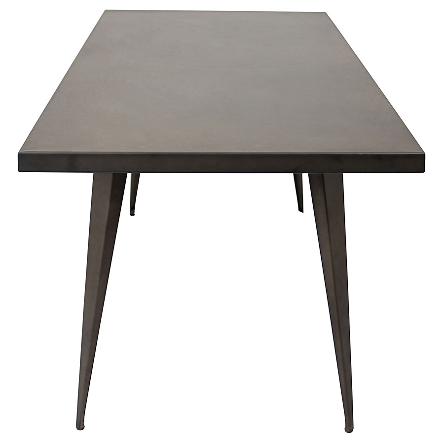 "Ajax 59"" Antique Modern Industrial Dining Table"