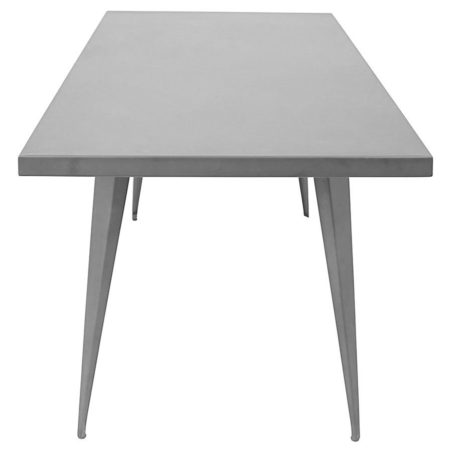 "Ajax 59"" Gray Contemporary Industrial Dining Table"
