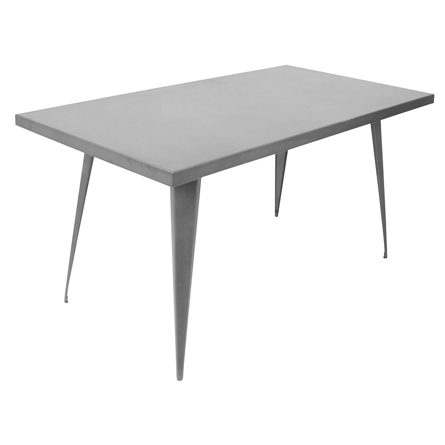 "Ajax 59"" Gray Modern Industrial Dining Table"