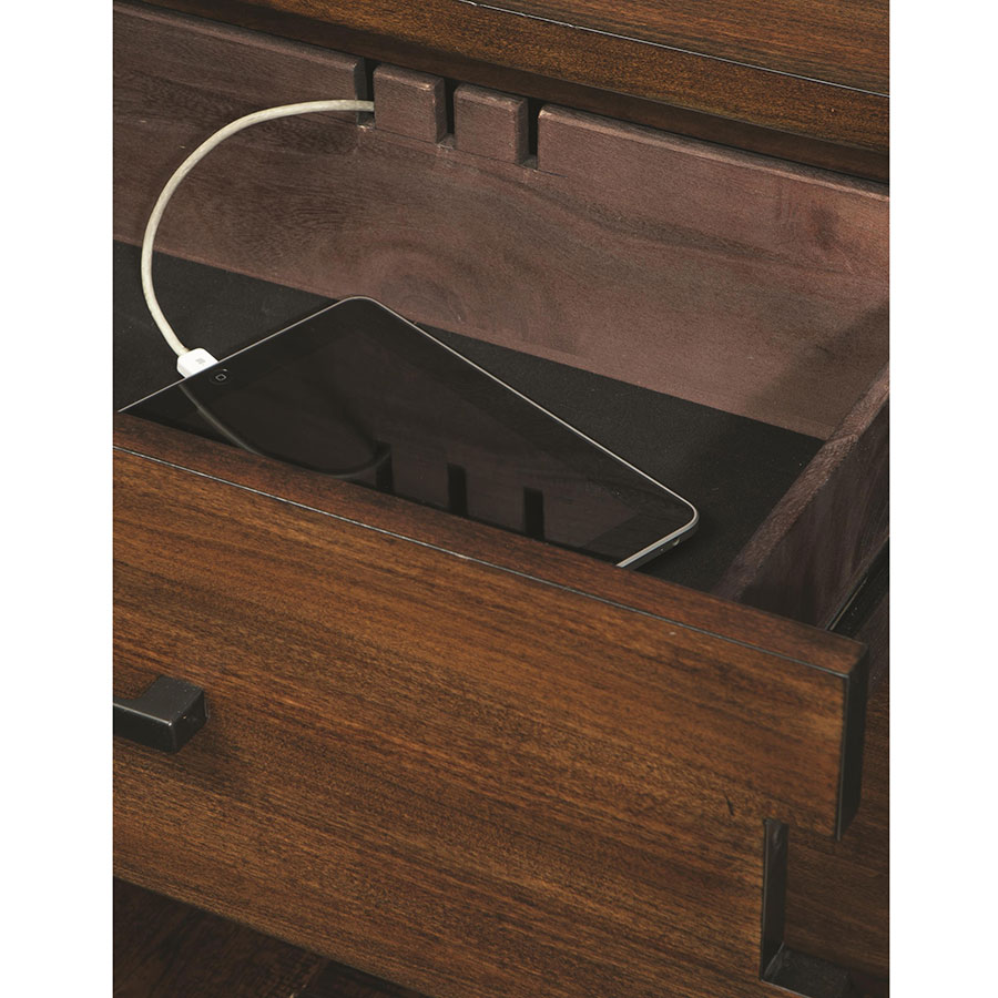 Alastair Modern Nightstand Charging Station