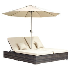 Alby Modern Outdoor Double Chaise