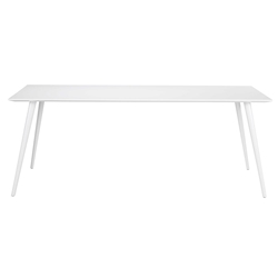 Alexis Modern White Dining Table