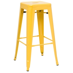 Alfredo Modern Indoor Outdoor Bar Stool in Yellow