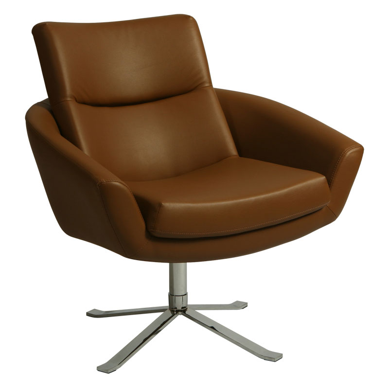 Alicante Modern Brown Lounge Chair