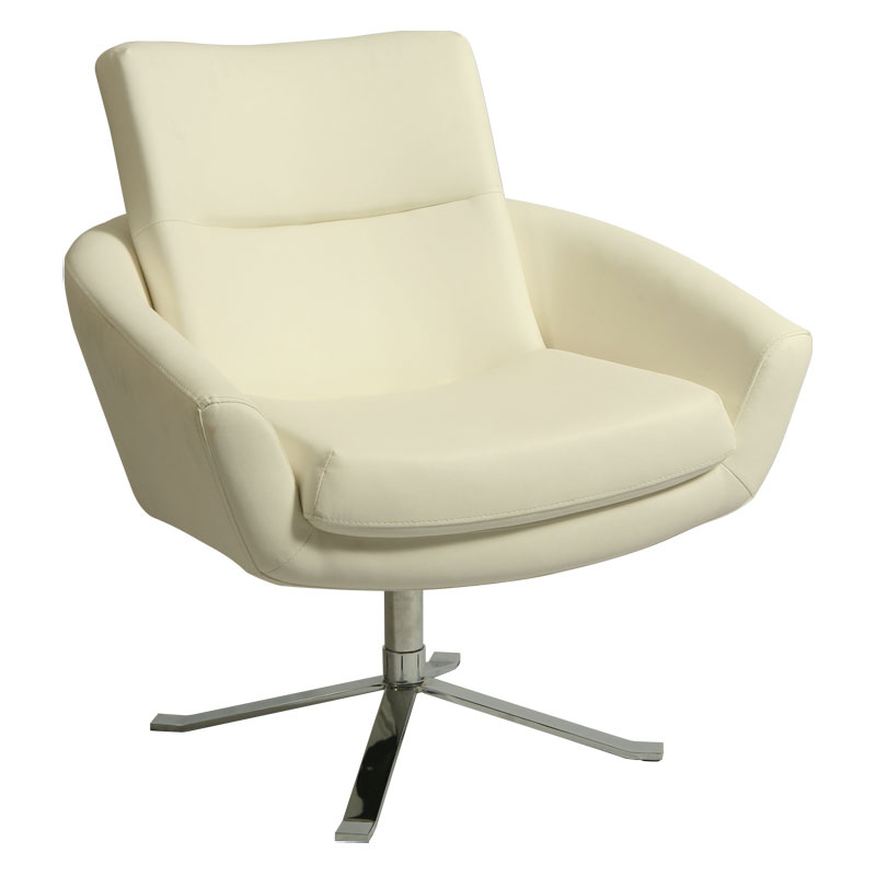 Alicante Modern Ivory Lounge Chair