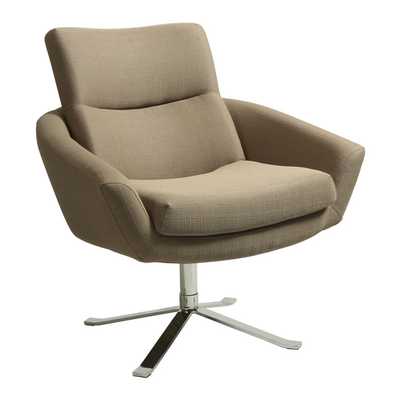 Alicante Modern Tan Lounge Chair